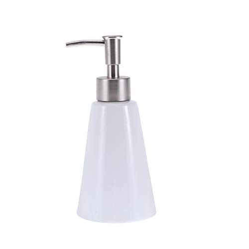 TOPBATHY 1 st Lotion Fles Lege Keramische Conische Houder Toiletruimte Fles Pomp Lotion Flessen Container voor Lotion Shampoo Douchegel