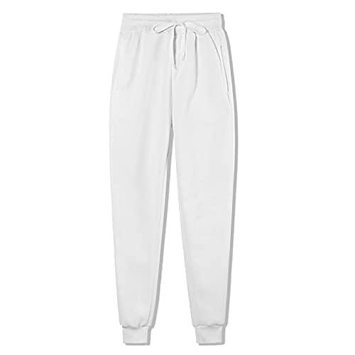Beifeng Pantalones deportivos de cintura alta para mujer, pantalones de entrenamiento, con cordón, para yoga, con bolsillos, para otoño, invierno