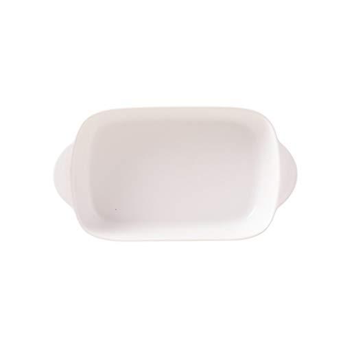 Assiette Service de Table -CDingQ Pure Color Céramique ustensiles de cuisson Plateau spécial for le riz cuit Vaisselle vaisselle domestique Binaural Plateau de fruits Accessoires Photo