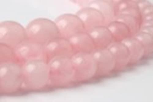 CXWK Joya Natural LIngXiang, Cuentas Sueltas de Cuarzo Rosa, Piedras Naturales adecuadas para Accesorios de Collar de Pulsera de Moda DIY