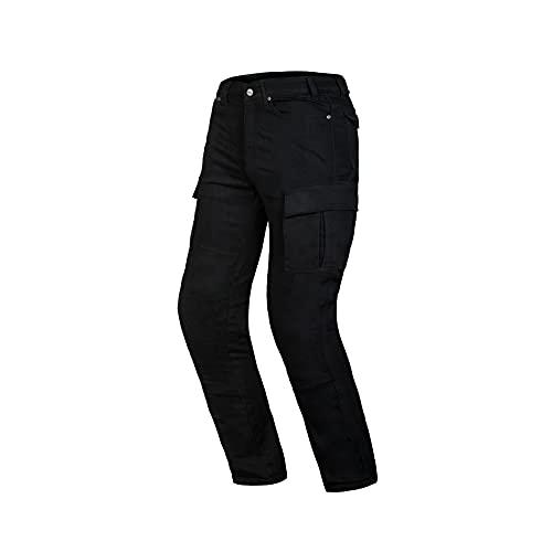 Ozone Shadow II Pantalones de Moto para Hombre Dupont Kevlar Fibra de aramida en el Interior y Twill en la Capa Exterior CE-Nivel 2 Protectores de Rodilla 6 Bolsillos y 1 Bolsillo Impermeable