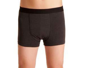 Herren Inkontinenz-Shorts, waschbare Inkontinenz-Unterhose Männer, dunkelgrau/melange, mit doppelter Saugeinlage, für Tagesinkontinenz geeignet, ActivePro Men Super, Gr. L