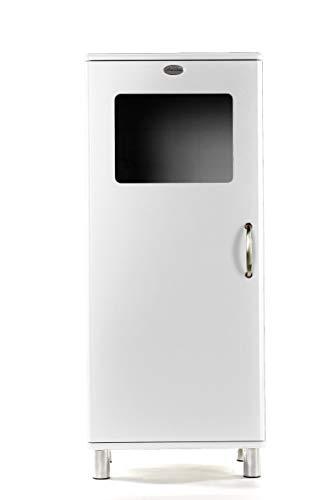 Tenzo 5101-005 Malibu - Designer Halbvitrine 143 x 60 x 44 cm, MDF lackiert, weiß