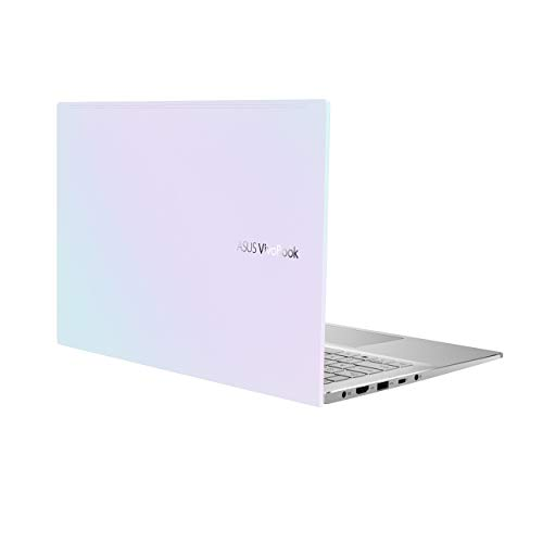 """ASUS VivoBook S14 S433 Thin and Light Laptop 14"""" FHD Display, Intel Core i5-1135G7 CPU, 8GB DDR4 RAM, 512GB PCIe SSD, Thunderbolt 3, Wi-Fi 6, Windows 10 Home, Dreamy White, S433EA-DH51-WH"""