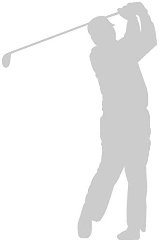 Samunshi® Autoaufkleber Golfspieler Swing Aufkleber in 8 Größen und 25 Farben (10x6,5cm silbermetalleffekt)