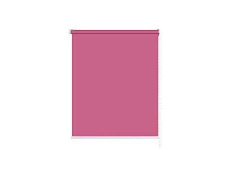 RESTAR Estor Enrollable Blackout para Ventanas y Puertas,protección Visual (Rosa Rojo, 60x200 cm)