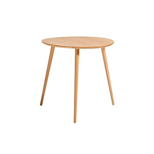 Renovierungshaus Kleiner Runder Tisch Wohnzimmer 40CM 50CM 60CM Beistelltische Nesting Holztisch Terrasse Esstisch Freizeit Beistelltisch Zusammenbaubare Couchtische Schreibtische (Größe: 60CM Farbe:
