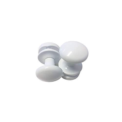 2 Stück Handtuchhalter Bademantelhalter Handtuchhaken Handtuchaufhänger für Badheizkörper (Weiß)
