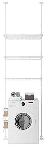 ZHBD Scaffale per Lavatrice A 3 Livelli, Supporto per Organizzatore A Risparmio di Spazio Multifunzionale, Altezza Regolabile, per Cucina Camera da Letto,42cm,128 to 168cm
