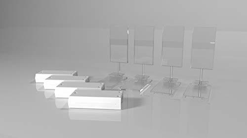 Home-Vision® Premium Plissee Faltrollo ohne Bohren zum Kleben Innenrahmen (Zubehör, Klebewinkel - Halterungen Set / 4 Stück) Blickdicht Sonnenschutz Jalousie für Fenster & Tür