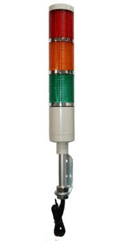 American LED-gible LD-5223-101 LED Tower Light, LED Andon Light, LED stacklight, 24VDC, R/Y/G with Flashing Capabilities