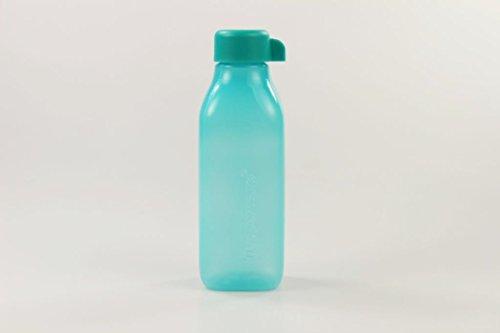 Tupperware To Go EcoEasy, bottiglia ecologica, 500 ml, forma quadrata, colore turchese scuro