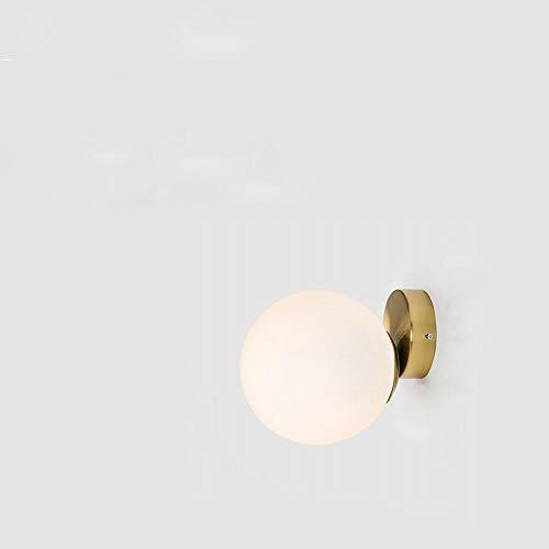 HDGGZKM Glazen bol, eenvoudig voor studie, woonkamer, hal, persoonlijkheid, slaapkamer, hoofdeinde, wand