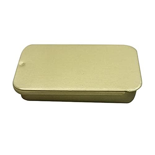 Envases de hojalata con tapa deslizante, caja de hojalata vacía rectangular, mini contenedores de hojalata, joyería de regalo y kit de lata de almacenamiento para bálsamo labial, 10 g, organizador par