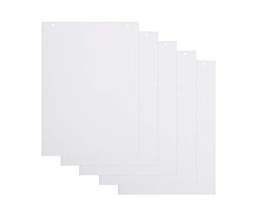 BoardsPlus Karierte Flipchart-Papierblöcke - 5er-Pack A1-Flipchartblöcke, 60 g/m² Papier, 20 Blätter pro Block, BPP010203