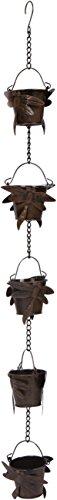 Trademark Innovations Verstellbare Libellen-Regenkette, 91 cm, mit 5 Körbchen