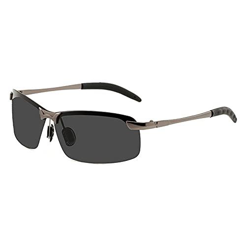 Secuos Gafas De Sol Fotocromáticas Clásicas para Hombre, Gafas De Camaleón De Conducción Polarizadas, Gafas De Cambio De Color para Hombre, Uv400 con Estuche