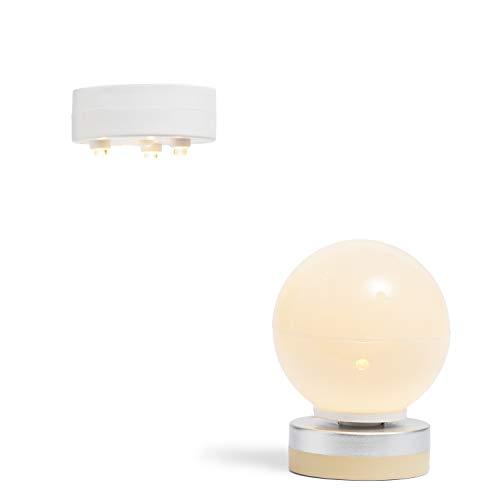 Lundby 60-605200 - Lampen Puppenhaus - 2 Stück - Lampenset - LED-Licht - Puppenhauszubehör - Zubehör - batteriebetrieben - Decken- & Wandleuchte - ab 4 Jahre - 11 cm Puppen - Minipuppen 1:18