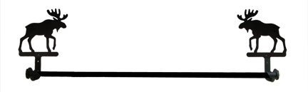 tb-19-l alce toallero de barra grande caña de pescar longitud 24cm, de Village Hierro forjado