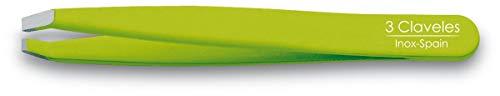 3 Claveles Pinza de Depilar, Punta Cangrejo, Verde, 9 cm