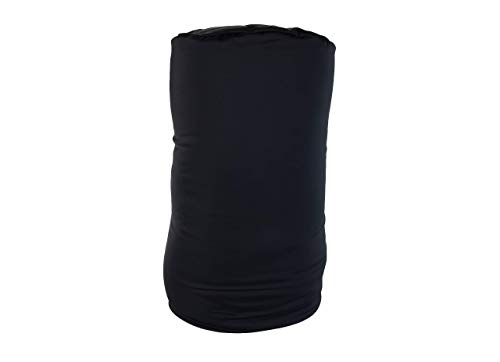 MEGA Pillow, Schwarz, Nackenrolle, Nackenkissen, Relaxkissen, Kissenrolle, Super Soft, besonders groß, 56 cm lang x 25 Durchmesser