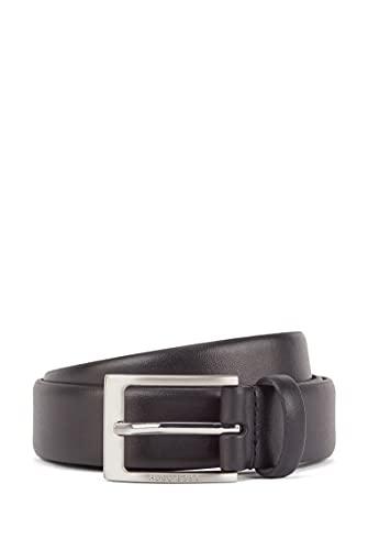 Hugo Boss Ceinture pour homme, Brondon, cuir véritable avec boucle en métal, logo - noir: : 90 cm