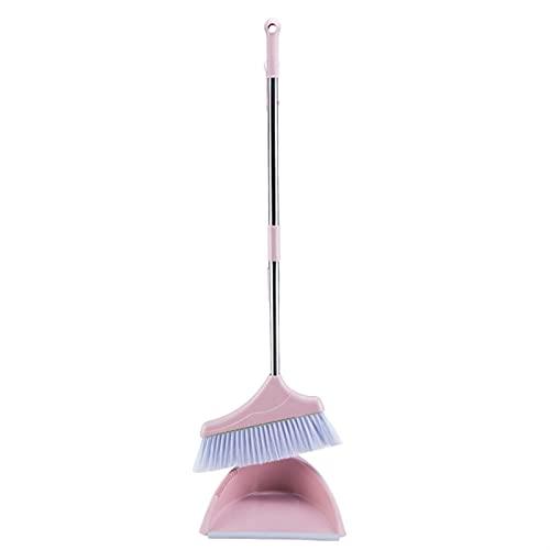 HuaShslt Escoba y Conjunto de Polvo de Polvo Polvo de Barrido de Goma Plegado Limpio for el Piso Pincel de casa Productos for el hogar Cocina de Goma Sweeper Plastic Sroom Indoor Rubber Broom