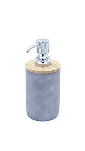 Ridder Cement Seifenspender, Zement, grau, ca. 7,6 x 7,6 x 18 cm