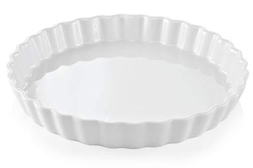 Topkapi Tortelett ETB5328: Tarteform Quicheform aus Porzellan, weiß, backofenfest, 28 cm