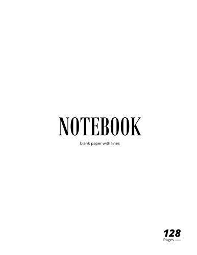 Luxury Notebook: WHITE EDITION, Journal, Matt Cover, Minimalist, Letter Size (8.5