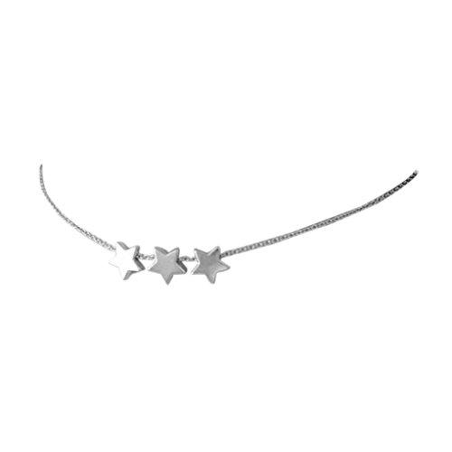 Cool Girl ajustable Shinning de la estrella Mujeres Gargantilla linda joyería de plata regalo de la cadena del oro