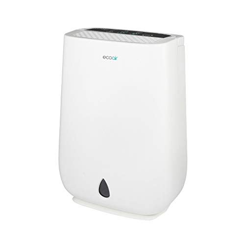 EcoAir | DD3 Classic MK2 | Electronic Control | 10.5 Litre/Day | Quiet 36dBA | Anti Bacteria Silver Filter | Laundry Mode | Timer | Light Weight 7.5Kg | 2YR Warranty | Desiccant Dehumidifier, white