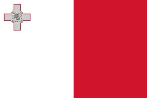 Michael & Rene Pflüger Barmstedt 8,4 x 5,4 cm Autoaufkleber Fahne von Malta Aufkleber Sticker fürs Auto Motorrad Handy Laptop