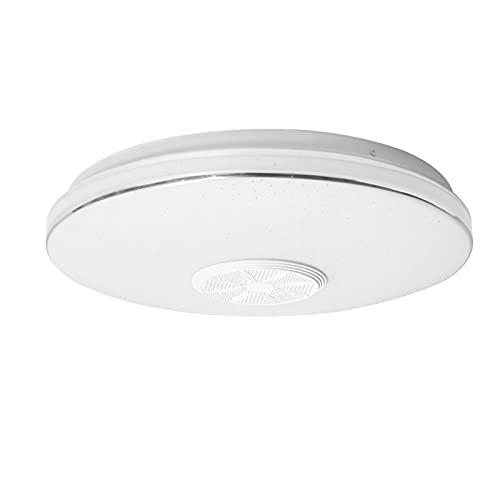 TANKE Lámpara de Techo de música Redonda de 36W Luz Que Cambia de Color RGB con Control Remoto para Bluetooth 13.4in