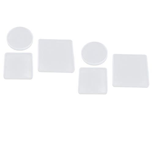 SDENSHI 6 Adorno Cuadrado Decorativo DIY Molde de Silicona Molde de Resina Herramientas para Hornear