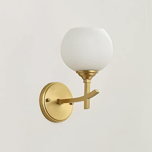 Zziyj Set Von 1 Industrieller Wand Sconce Beleuchtung E27 / E26 Sockel Mit Globus Glas Vintage Badezimmer Wall Waschtisch Licht Leuchten Moderne Wandlampen (Gold)