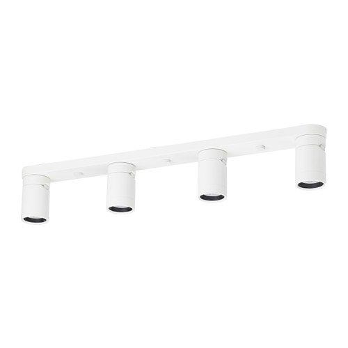 IKEA Deckenleuchte mit 4 Spots, weiß 1428.112323.226