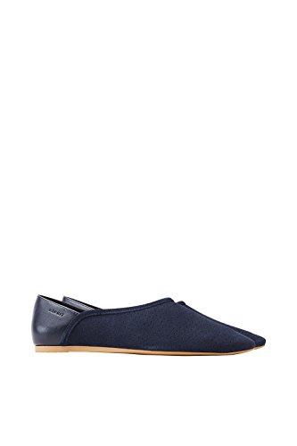 ESPRIT Loafer im Leder-Material-Mix (39 EU, Navy)