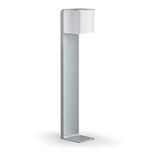 Steinel Wegeleuchte GL 80 LED iHF silber, LED Gartenleuchte, 160° Bewegungsmelder, vernetzbar, per App bedienbar