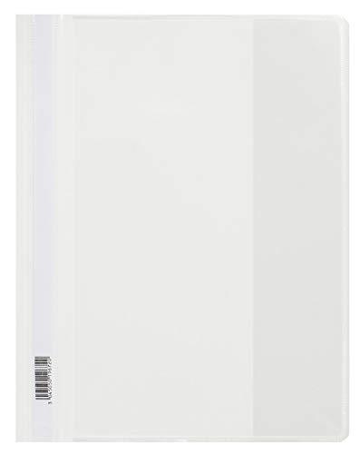Oxford FolderSys - Carpeta con fundas (tamaño A4, 25 unidades), color blanco