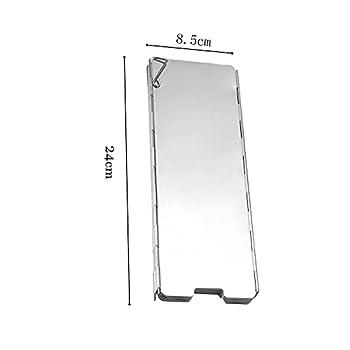 Youery Pare-Vent Pliable Rechaud Aluminium Portable de 14 Assiettes de Pliage Rechaud de Camping Ecran du Vent en Plein Air pour Le Camping de Pique-Nique