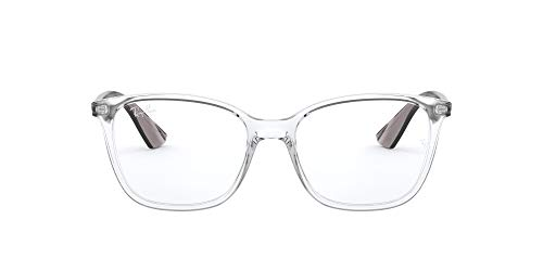 RX7066 Square Eyeglass Frames, Transparent/Demo Lens, 54 mm