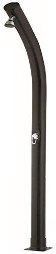 Qp M121388 - Ducha Solar Curva PVC Negra 23 l