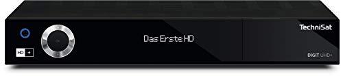 TechniSat DIGIT UHD+ - UHD/4K Receiver mit Twin-Tuner (Sat DVB-S/DVB-S2, Kabel DVB-C, DVB-T2 HD, App Steuerung, PVR Aufnahmefunktion, LAN, CI+, USB 3.0, 6 Monate HD+) schwarz
