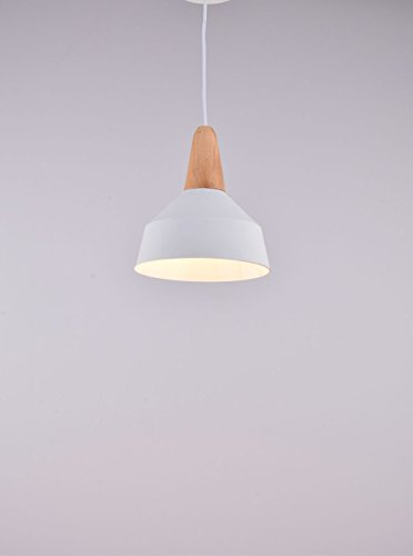 CAGUSTO Pendelleuchte Raby II Weiß Metall Schirm Modern Retro Hängeleuchte