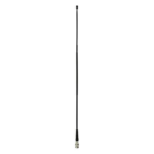Albrecht 6577 Antenne CB Hyflex CL 27 BNC für tragbare CB-Funkstationen mit BNC-Stecker, 54 cm Schwarz