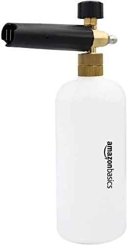 Amazon Basics Lance à Mousse de Neige avec Connecteur Rapide 1/4 pour Pistolet Laveuse à Pression Compatible avec Connecteur Rapide 1/4 Uniquement, 0,22 gallon