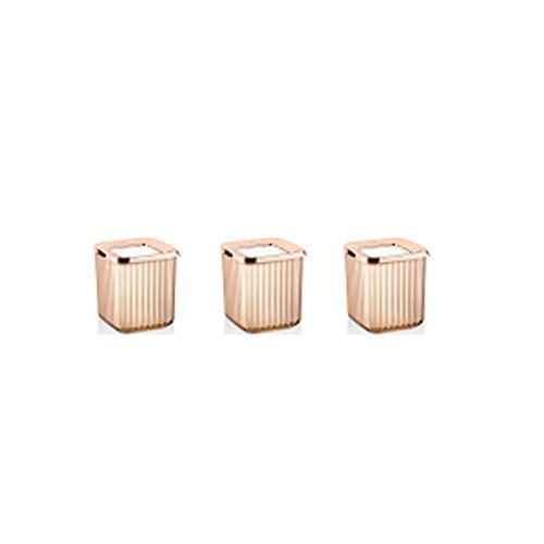 Caja de conservación fresca Caja de almacenamiento Organizador de cocina Contenedores COOKIES 6 PCS Vacuum medio transparente (Color : Copper Storage Boxes, Size : 1 Set 3 Pcs)
