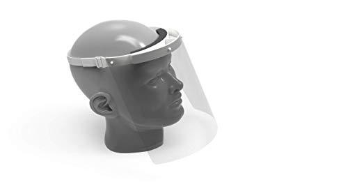 RENZ Gesichtsschutzschild - 1 x Kopfhalterungen und 1x Schutzschild – Zertifiziert – Hergestellt in Deutschland - Gesichtsschutzmaske, Gesichtsvisier, Gesichtsschutzschirm, Protective Face Shield
