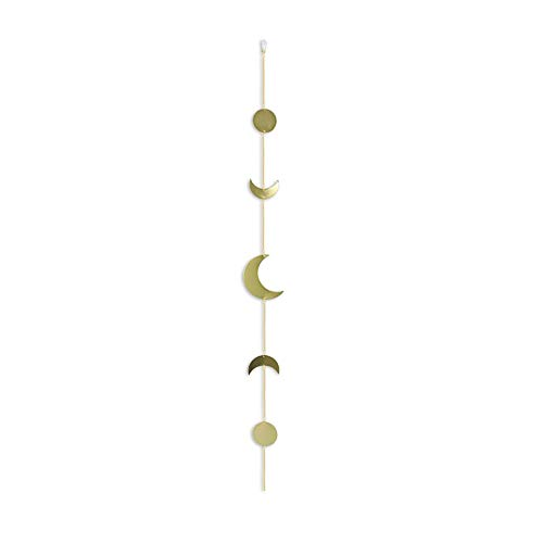 Symina Boho Ornaments for The Home Metal Sun Moon Garland Moon Phases Garland with Chains Celestial Chakra Magic Metal Piece Hanging Wall Decor Wall Hangings (HHM0512)